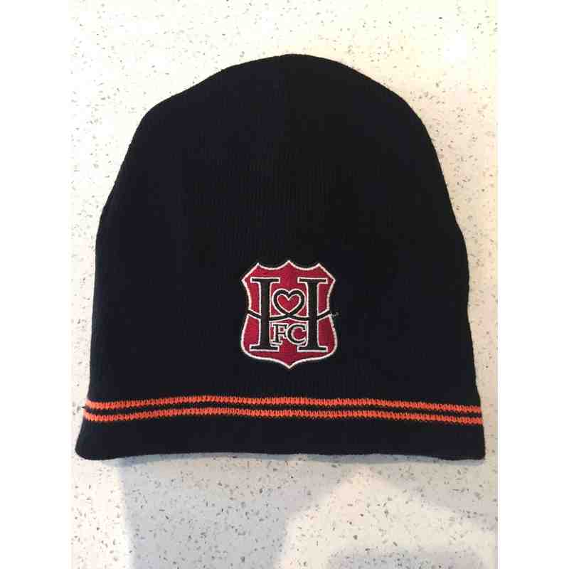 Hearts - black beanie with club logo
