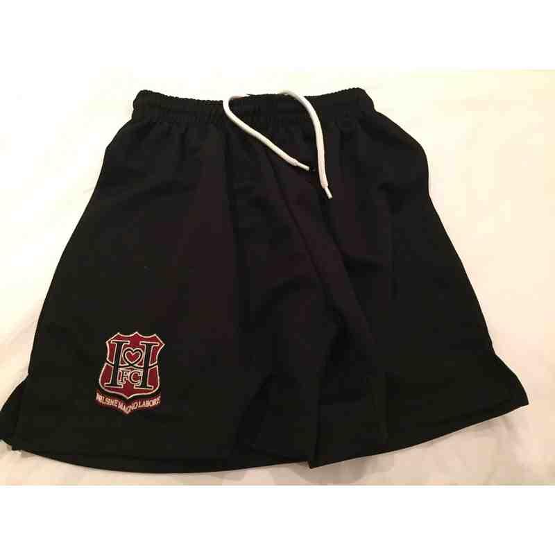 Match shorts, with club logo