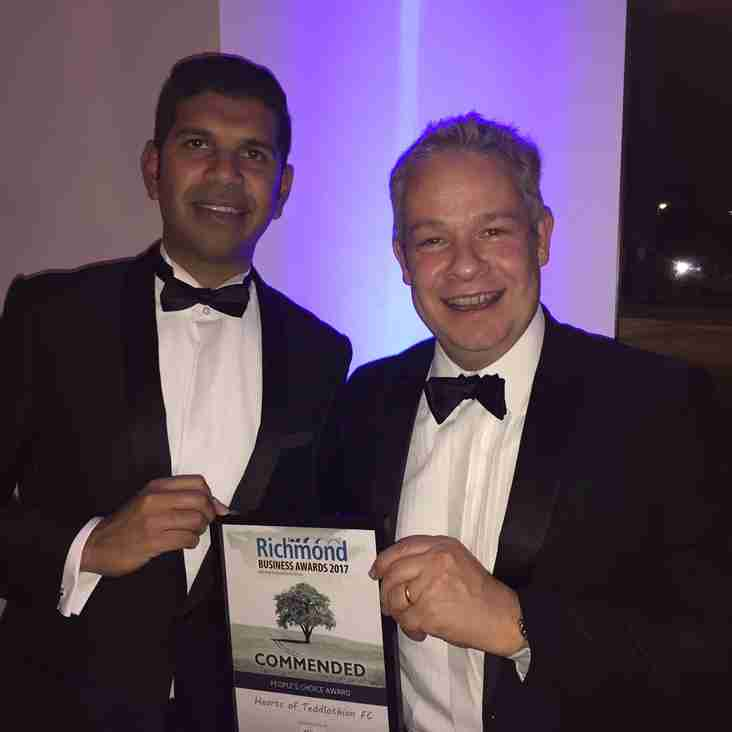 Richmond Business Awards - Congratulations on Your Win!