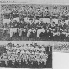 Whitehaven v Wigton Cumbria Cup Final - 7 Apr 1973  (6-12)