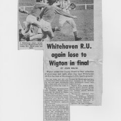 Whitehaven v Wigton County Shield Final - 1973 ?  (9-16)