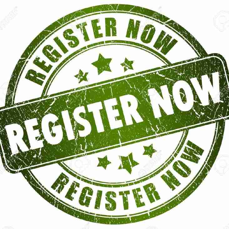 Junior and Mini Players Registration forms