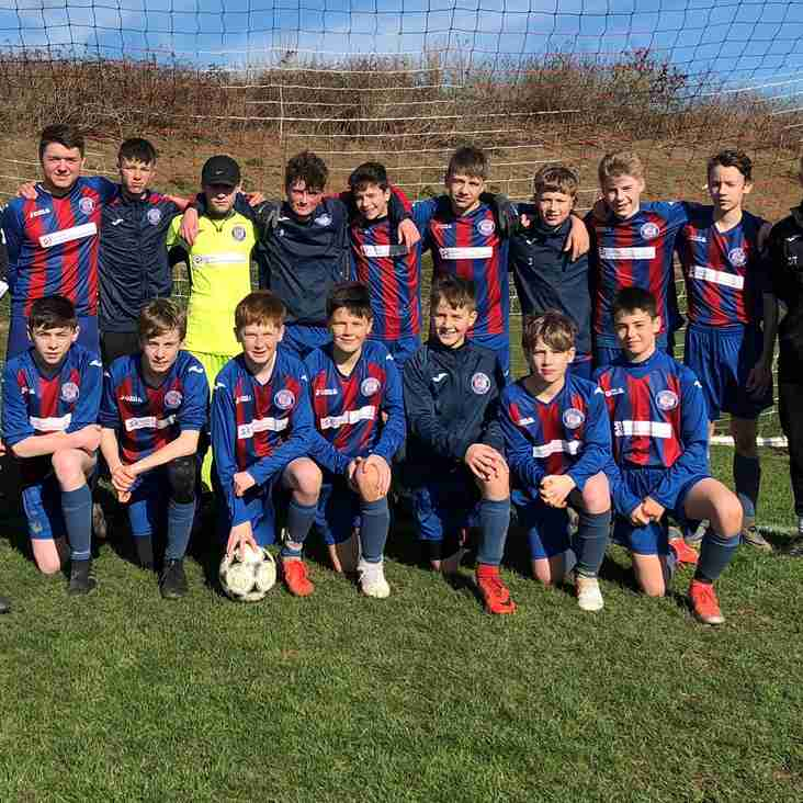 Leicester Road U14's recover to win in style