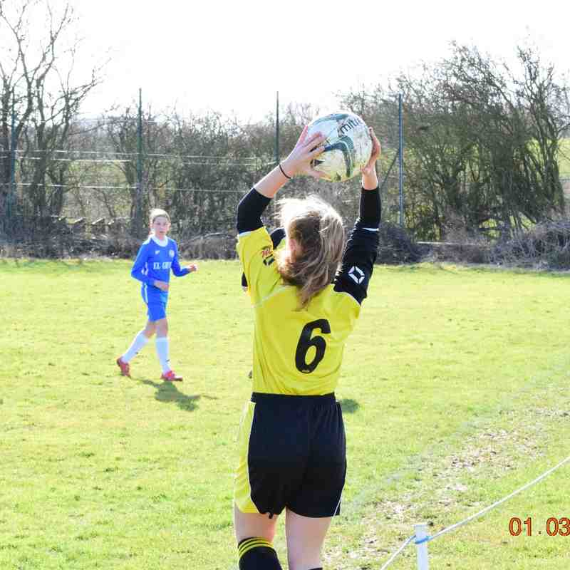 HTFC U15 Girls v Leicester City Ladies Diamonds FC U15 Girls - 01/03/2015