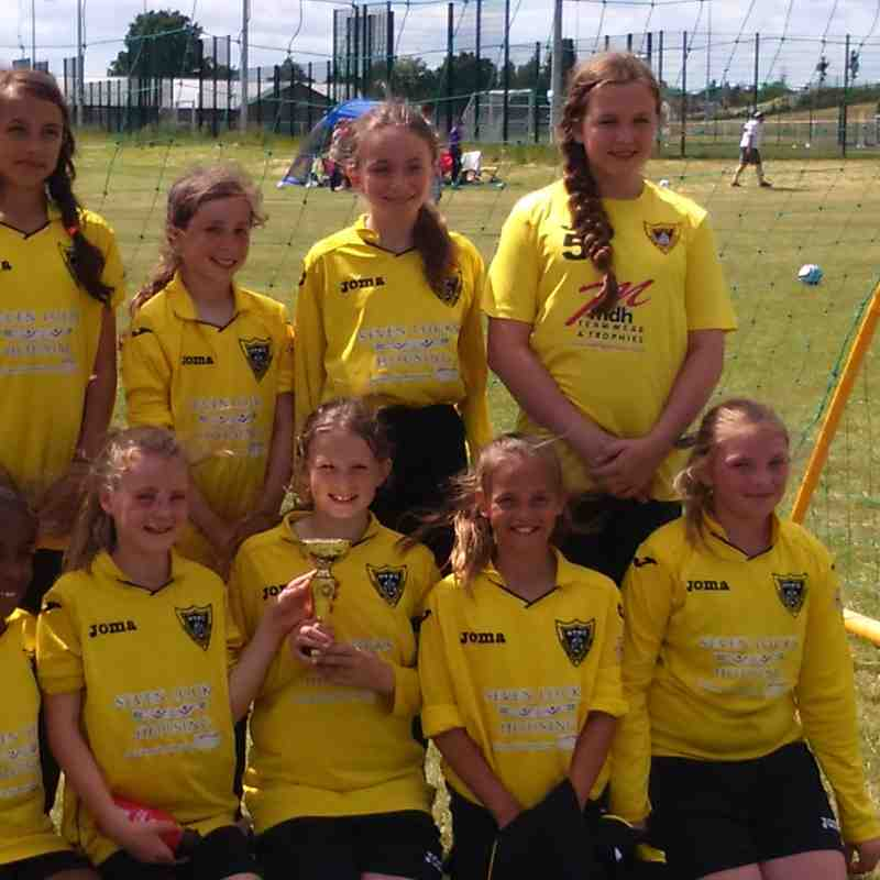 HTFC U12G's - Leicester City Women 7 a-side tournament - 27/06/2015
