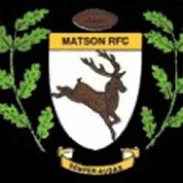 TONIGHT - TUESDAY 28th MARCH - 1sts HOME to MATSON in SENIOR COMBINATION CUP