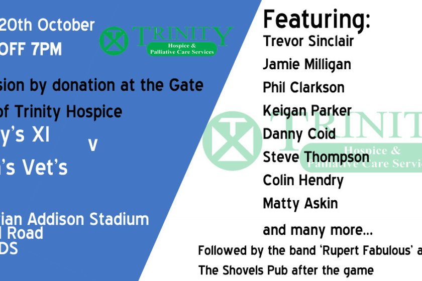 Charity football game in aid of Trinity Hospice - Friday 20th October