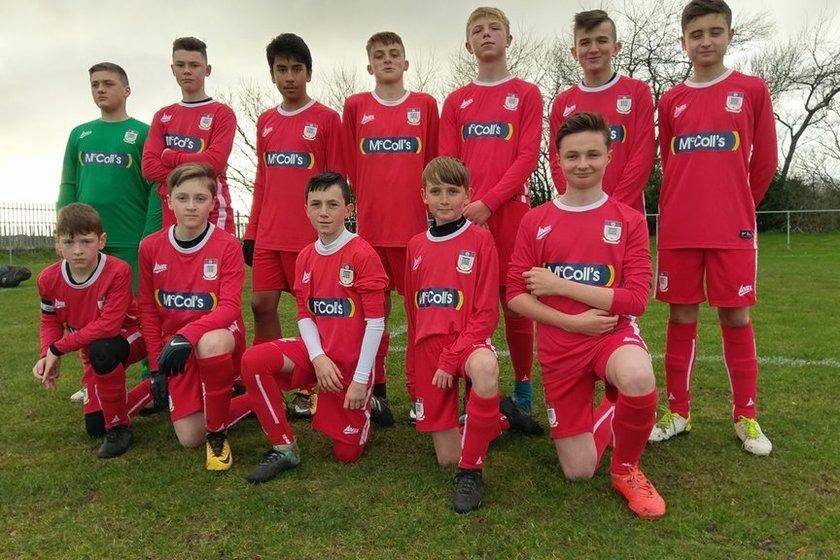 Under 14 Reds lose to Squires Gate FC Under 14's 4 - 1