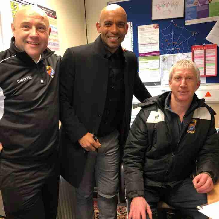 SIGNING: Ex England International Trevor Sinclair signs for Gate