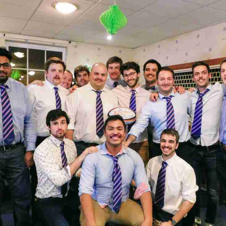 Rugby club fundraising for Movember 2017