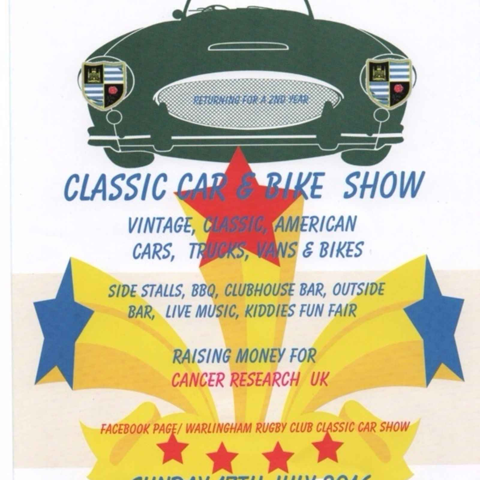 Warlingham RFC - Classic Car & Bike show