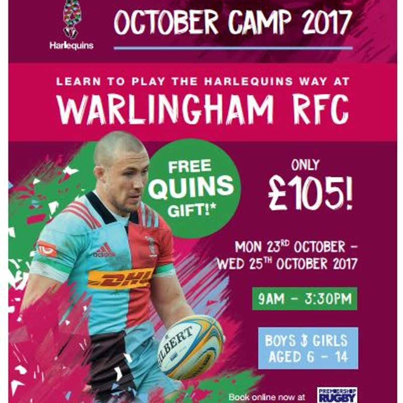 Harlequins October Camp 2017 @ Warlingham RFC