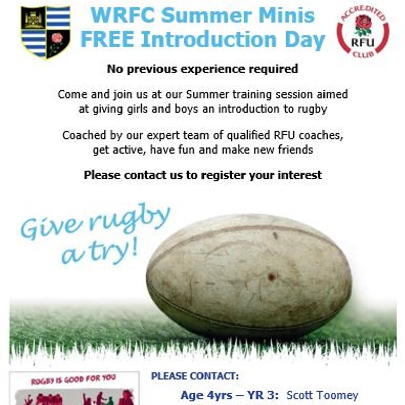 WRFC Summer Minis - FREE Introduction Day