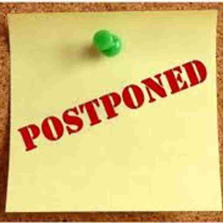 ERFC 1st XV Game Postponed - 30th Sep 2017