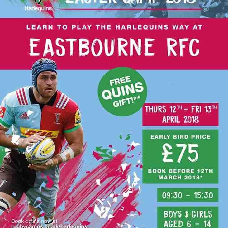 Harlequins Easter Camp 2018 at Eastbourne Rugby Club