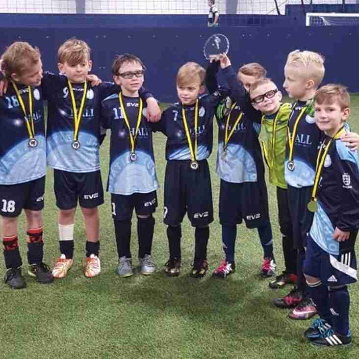 U8 FC win the Soccer Kings Indoor Football tournament