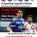 A Sporting Legend's Dinner with Tony Cottee