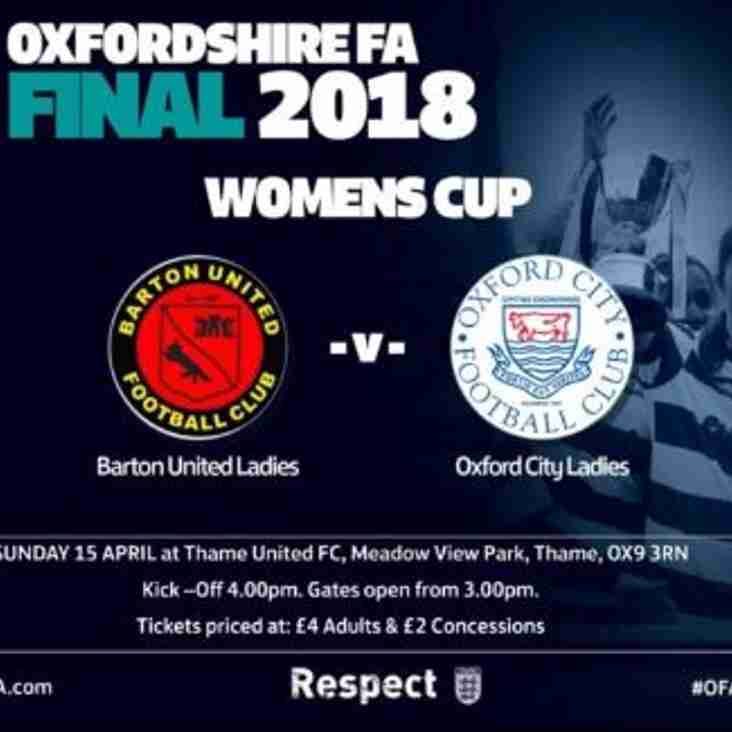 OXFORDSHIRE FA  Womens Cup Final