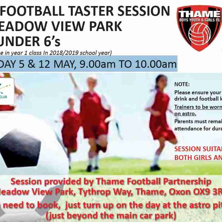 FREE Football Taster Session for Under 6's