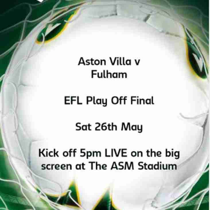 Aston Villa v Fulham - EFL PLAY OFF FINAL
