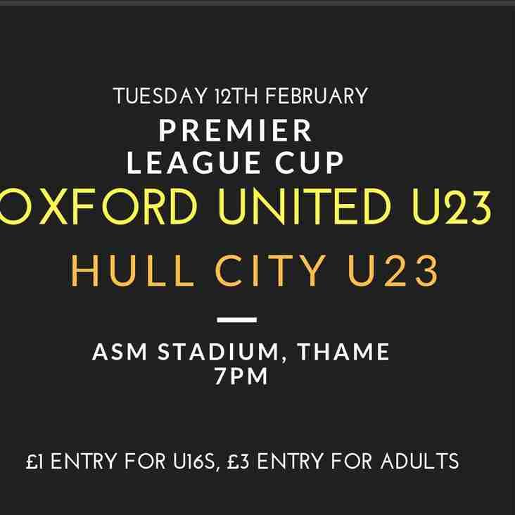 Oxford United U23 v Hull City U23