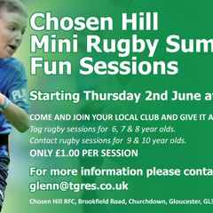 MINI RUGBY SUMMER FUN SESSIONS