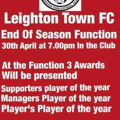 End Of Season Function 30th April
