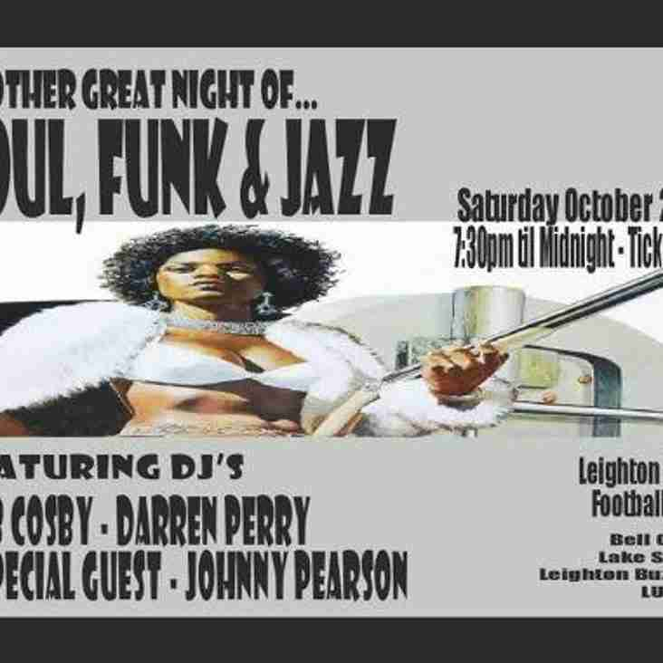 Another Night of Soul, Funk & Jazz - Saturday 22nd October
