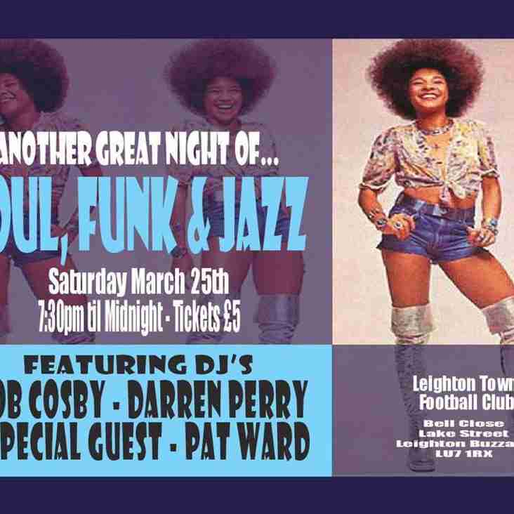 Soul, Funk & Jazz Night 25th March