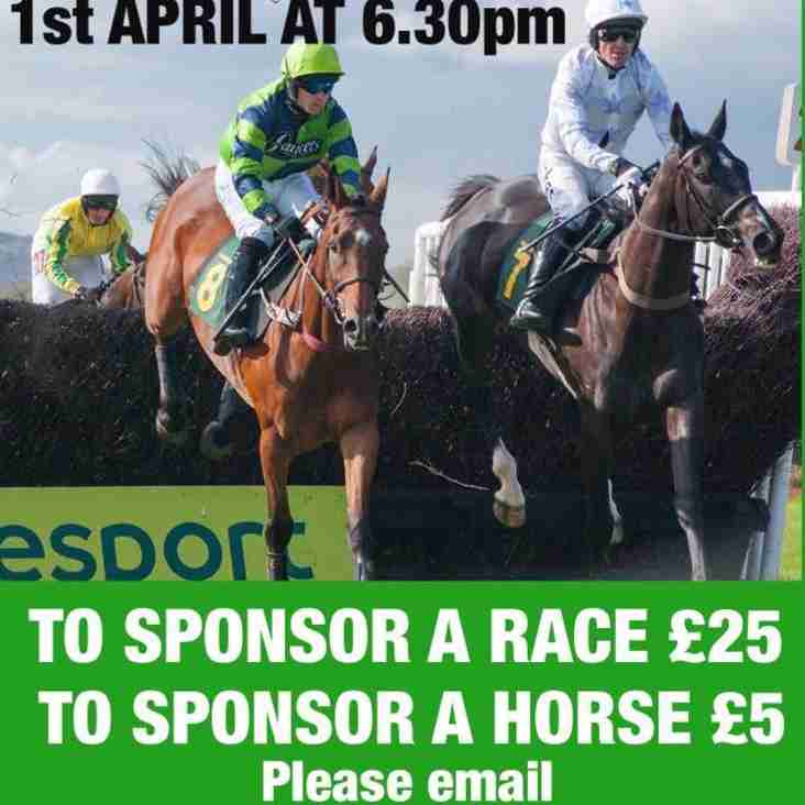 Race Night 1st April 6:30pm