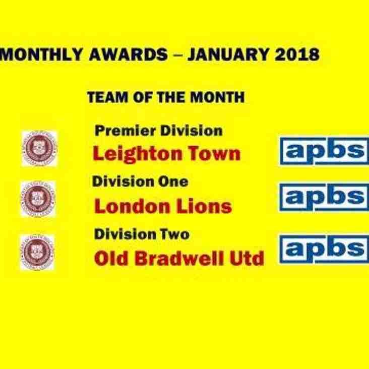 Leighton Team Of The Month For January