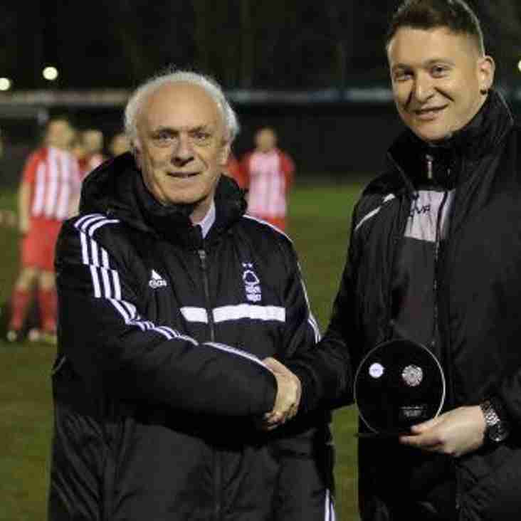 Scott Reynolds Receives Team Of The Month Trophy For January