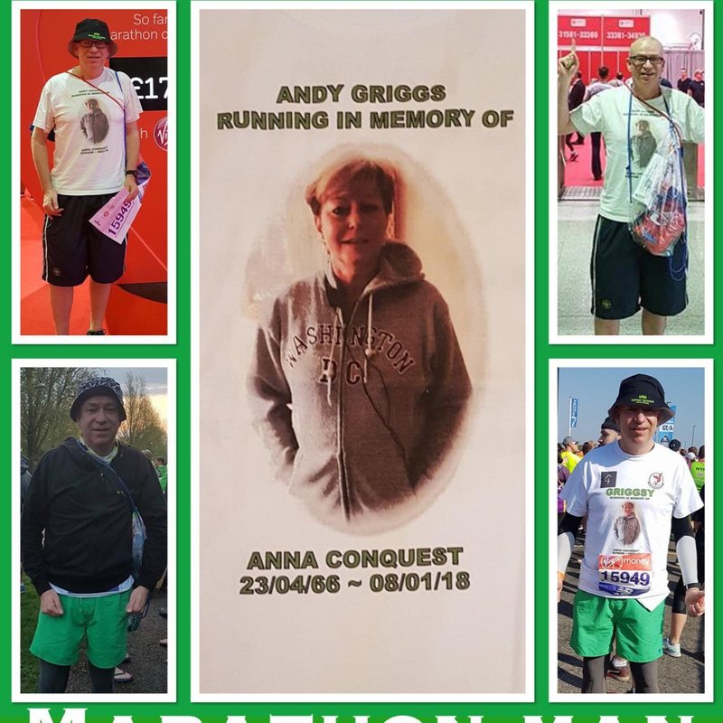 Well done to Andy Griggs on Completing The London Marathon