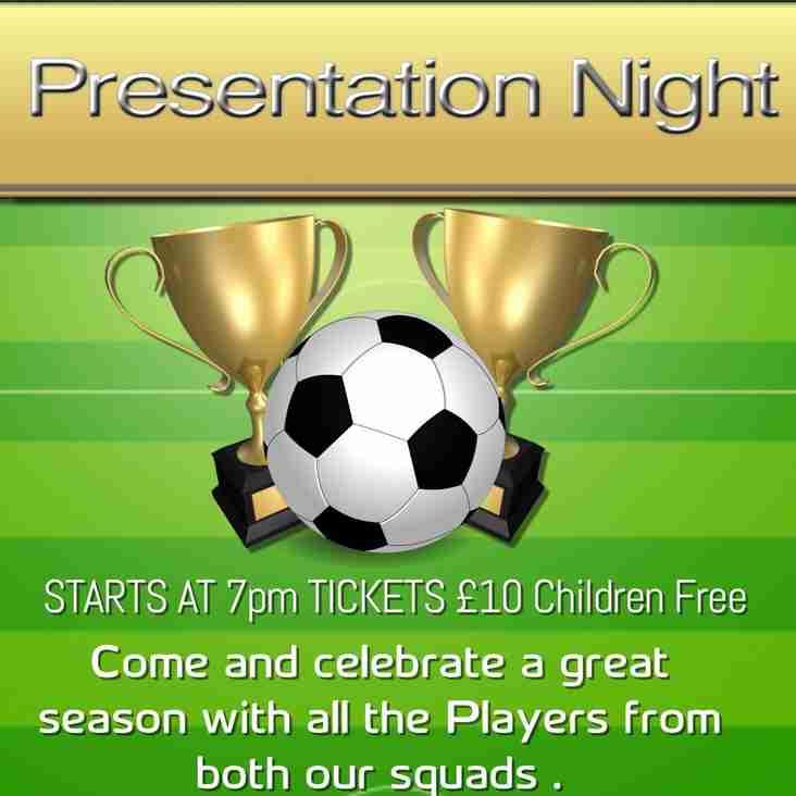 Presentation Night Sunday 6th May