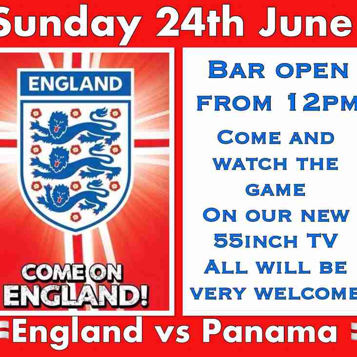 Join Us At Bell Close On Sunday - England v Panama