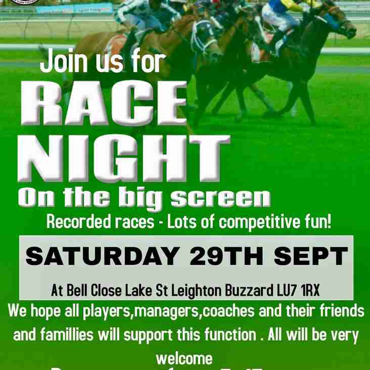 Race Night Saturday 29th September
