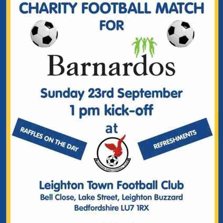 Sunday 23rd Charity Match - Update