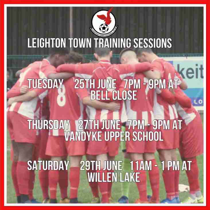 Pre-Season Training Information