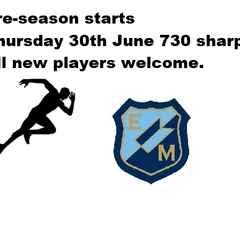 Pre Season Starts on Thursday