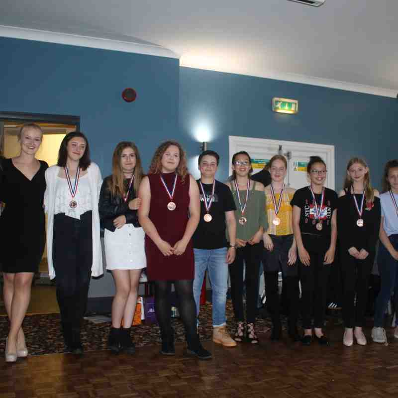 Stockton Boys&U13 Girls & U15/16s. Presentation night.
