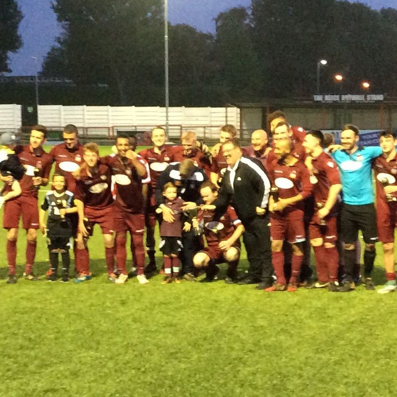 Radford win the League Cup 6-0 v Anstey Nomads