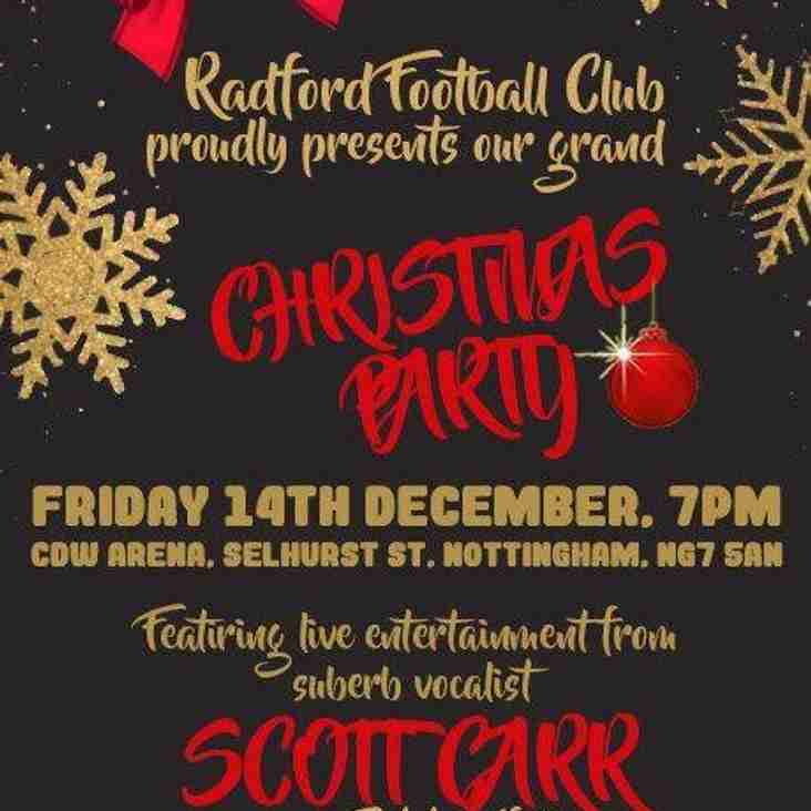Radford christmas Party - Friday 14th December
