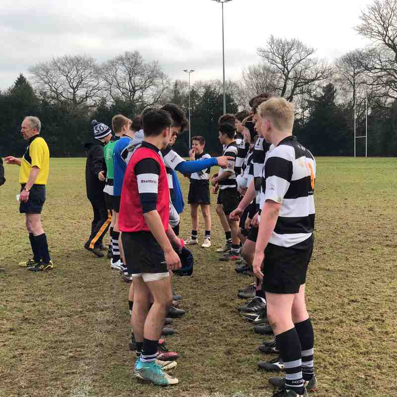U15As vs Haslemere 14 Jan 2018