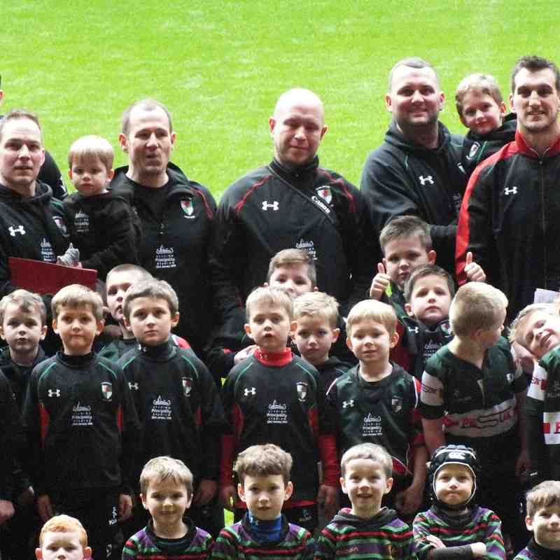 Wrexham U7s visit the Principality Stadium 23rd January 2016