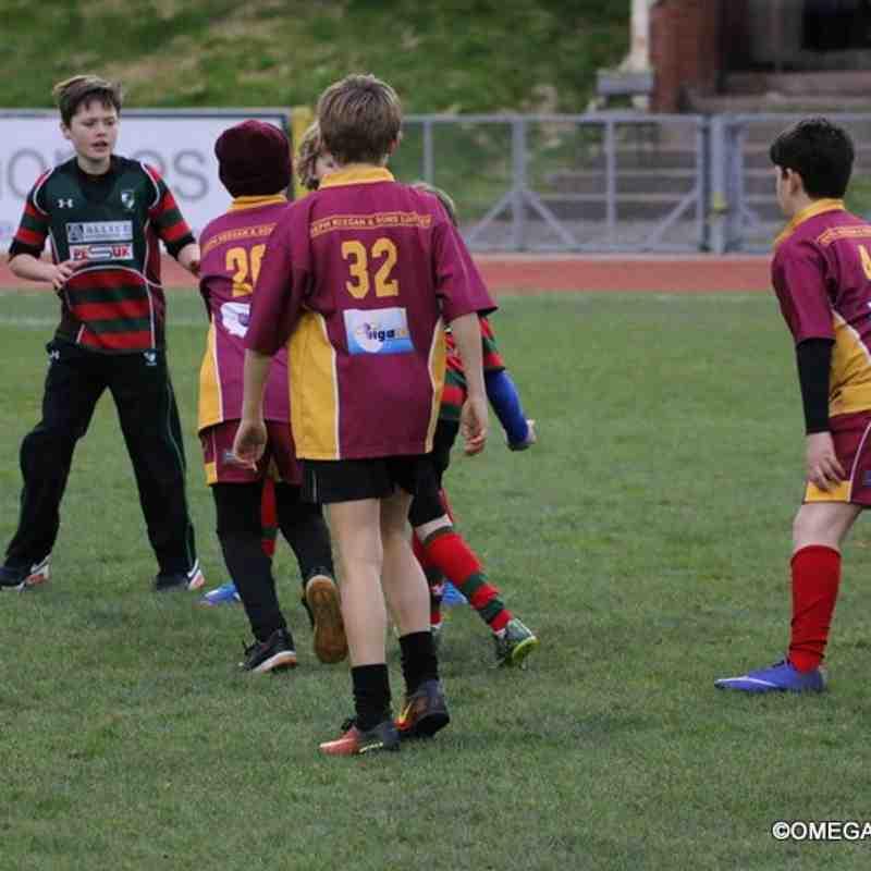 Half time U11s/U12s game at RGC feat. Wrexham and Caernarfon