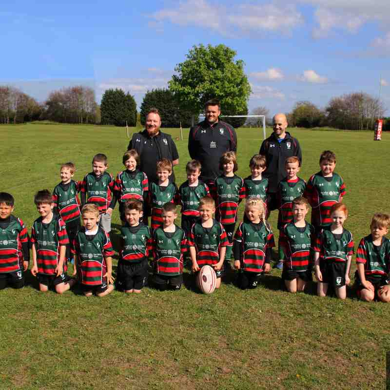 Wrexham U7s at the Anglo Welsh tournament
