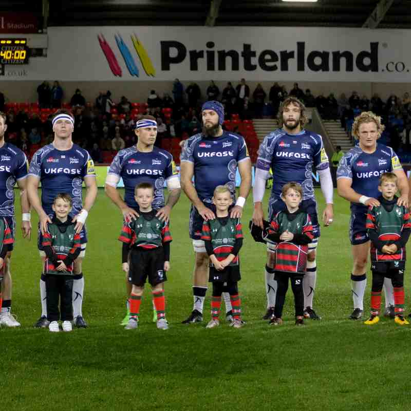 Wrexham U8s 'Dream Team' experience at Sales Sharks vs Exeter