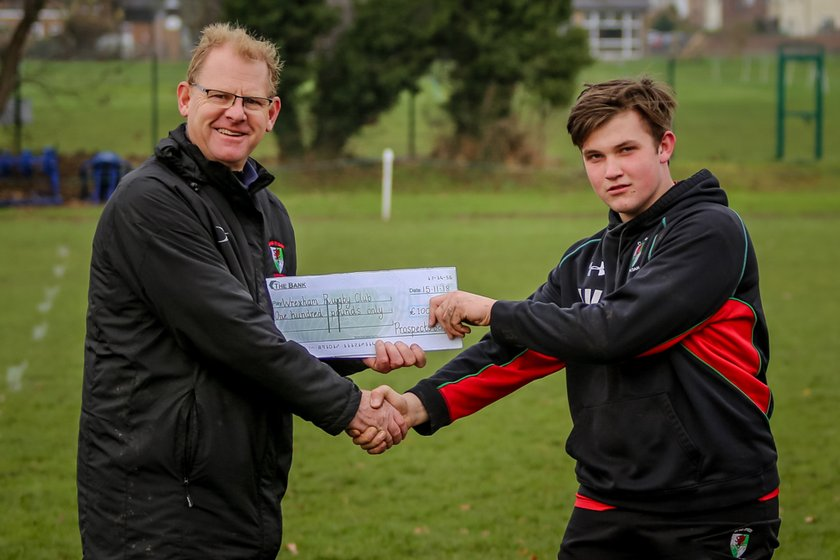 Local school makes donation to Wrexham Youth as last hoorah!