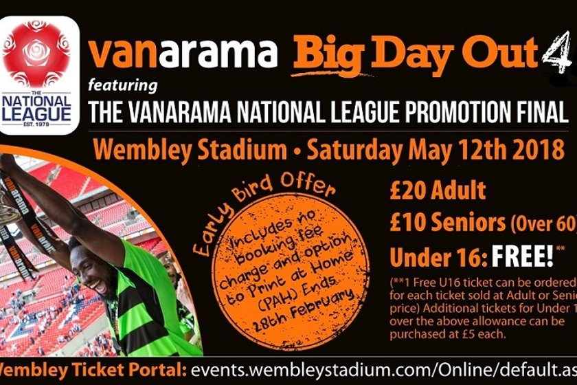 The Vanarama National League Promotion Final.