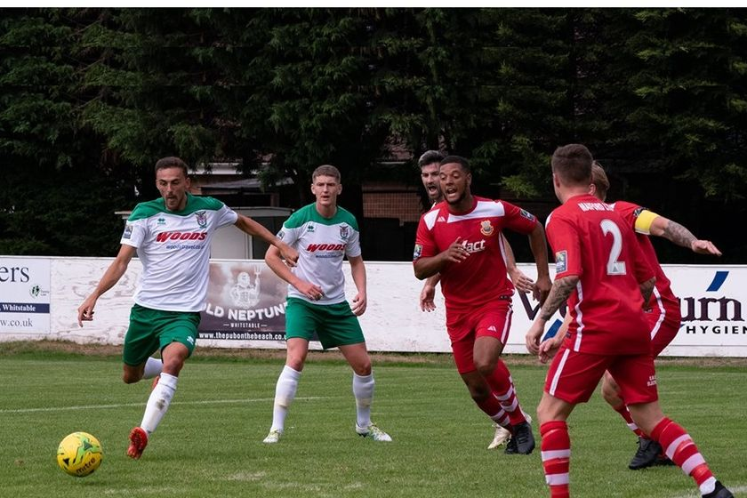 Rocks Smash Five Past Whitstable In F.A Cup.